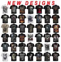 Biker Clothing Spiral Direct BLEEDING SOULS Mens Metal Skulls Cross T-Shirt