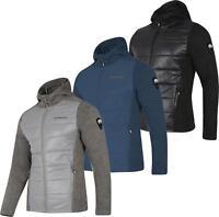 Dare2b Combine Sweater Mens Hooded Full ZIp Fleece Jacket Hybrid