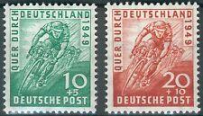 Alliierte Besetzung Mi.-Nr.106-107** Quer durch Deutschland Radrennen 1949