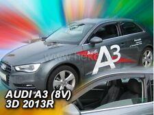 4 Deflettori Aria Antiturbo Audi A3 8V Limousine 2013 in poi 4 porte