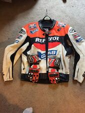 Repsol Honda Gas jeans Joe Rocket leather jacket W Gloves 50 CBR1000RR Hayden 69