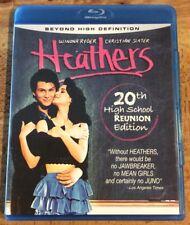 HEATHERS (Blu Ray) 20th High School Reunion Ed Winona Ryder Christian Slater
