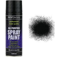 x 3 400ml multi usage Noir Vernis spray CAN-BUS Maison Voiture Van MOTO AEROSOL