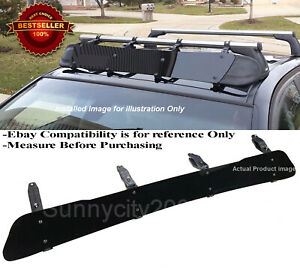 "53"" Black Roof Rack Wind Faring Deflector For Corss Bar Basket Fit Toyota Scion"