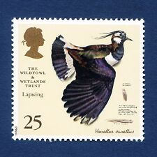 """""""Lapwing"""" illustrated on 1996 stamp - Unmounted mint"""