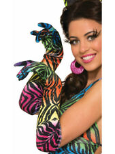 Womens Sexy Rainbow Tiger Print Party Animal Long Gloves