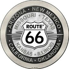 Route 66 States Metal Novelty Round Circular Sign