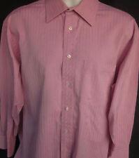 Ted Baker Mens London Button Front Long Sleeve Designer Shirt XL 16 1/2