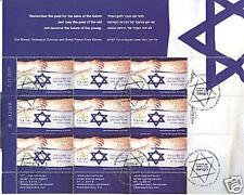 ISRAEL 2010 HOLOCAUST DAY 9 STAMP SHEET SILVER P/M