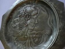 Fantastic WMF? Art Nouveau  Pewter Organic Serving wall Tray,old patina 19 c
