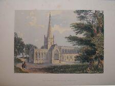 1869 Santa Trinità, Stratford on Avon, da SIDNEY Angolo Antico litografia a colori