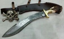 "Custom handmade Knife kings's Damascus ""STAG KUKRI KNIFE"" with sheath"