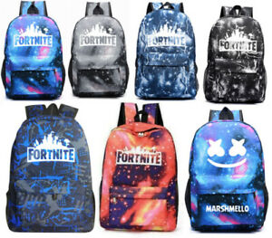 Boys Girls Kids Fortnite Canvas Backpack School Bag Student Teenagers New Term