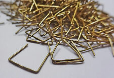 Chandelier Parts for Crystals Glass Drops Clasps Beads Pins Links Rings Droplets 250 Antique Brass 42mm Clasps