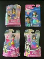 "Disney Princess Little Kingdom Mulan or Jasmine Snap Ins 3"" Small Doll"