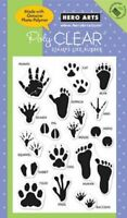 Animal Hands Handprints Poly Clear Acrylic Stamp Set by Hero Arts CL399 NEW!