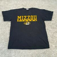 Vintage Mizzou Tigers Mens T Shirt Large Black Missouri USA College Sports Tee