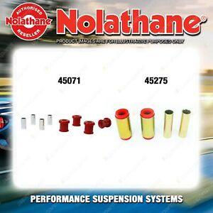 Nolathane Control arm bush kit for NISSAN 720 CG 4CYL RWD 1/1980-12/1985