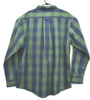 Haggar Clothing Mens XL Long Sleeve Button Down Stretch Cotton Dress Shirt Green