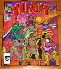 VILLAINY - DEVISE DASTARDLY DEEDS Board Game By Mayfair Games NEW/SEALED/SHIPS$0