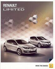 Renault Megane Fluence Laguna Koleos Limited 09 / 2014 catalogue brochure