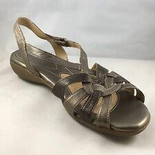 "Naturalizer ""Convey"" Pewter Wedge Sandal Size 11M Summer Spring"