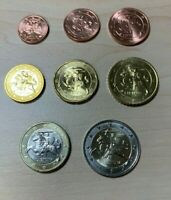 LITHUANIA  UNC EURO 8 Coin Set. 1 cent to 2 EUR. New from mint rolls. KM 205-212