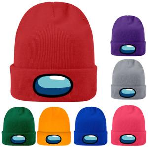Among Us Adults Unisex Winter Knitted Beanie Hat Boys Girls Warm Woolen Cap UK