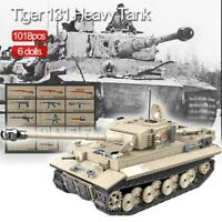 Lego ww2 Tank Tigre 131 Panzer Allemand Véhicule Militaire Jouet Construction
