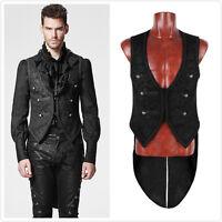 Punk Rave Mens Vest Waistcoat Tailcoat Black Gothic Steampunk Victorian Y-600