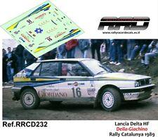 DECAL/CALCA 1/43; Lancia Delta HF; Deila-Giachino; Rally Catalunya 1989