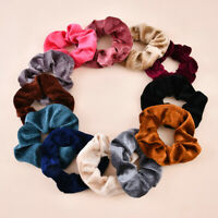 12Pack Women Girl Hair Scrunchies Velvet Elastic Hair Bands Scrunchy Rope Ties