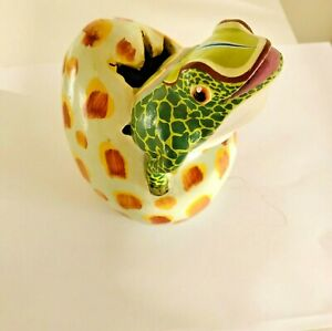 Frog Hatching from Large  Egg Sculpture  Handmade