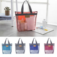 Portable Travel Large Cosmetic Makeup Mesh Toiletry Zip Bag Wash Organizer Pouch