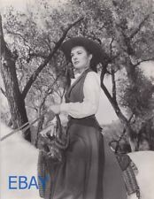 Jean Peters sexy cowgirl on horse VINTAGE Photo