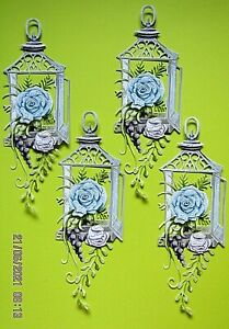 New: 8 x Carnation Crafts : Floral Lantern Charisma Die Cuts