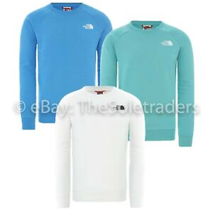 Men's The North Face Raglan Redbox Sweater 100% Cotton Crew Neck Top Sweatshirt