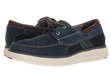 Clarks Un Abode Step Boat Mens US 7.5 EU 40 Navy Casual Slip On Loafer Shoes New