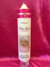 Personalised Candle Wedding Christening Baptism Naming Day Memorial