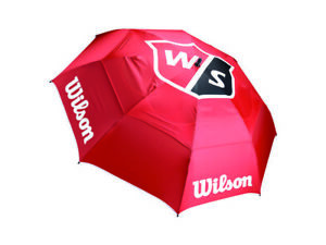 "Wilson Staff  68"" Inch Pro Tour Double Canopy Golf Umbrella (Red)"
