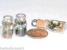 1 Miniatura Casa de Muñecas Little Pequeño Acuario Océano Vidrio Charm Colgante