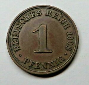 Germany-Empire Pfennig 1908A Copper KM#10