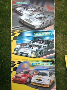 3 X Scalextric Catalogues -edition 41 2000- 42 1st &2nd Questions + Prix Listes
