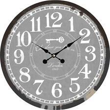 Wanduhr Uhren Dekouhr Vintage Holz 34cm Shabby Romantik Landhaus Retro London