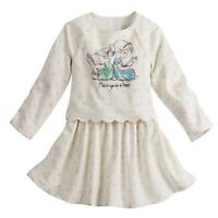 DISNEY STORE ANIMATORS' COLLECTION DRESS FOR GIRLS NWT ANNA & ELSA AS TODDLERS