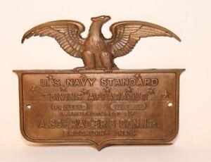Navy Diving Apparatus Bronze Plaque Brooklyn NY - OC No. 861 - Feb 1, 1919