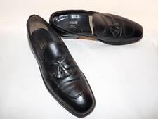 Men's Nettleton Tassle Loafers Black Leather Slip On Shoes #58519 Sz 11B