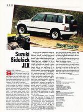 1991 Suzuki Sidekick JLX 4-door Original Car Review Print Article J38