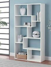 tall bookcase cubby large open bookshelf modern cube 8 shelf display white book