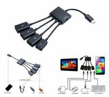 4 Port Micro Usb Power Charging Otg Hub Cable For Lenovo Miix 2 Windows 8 Tablet